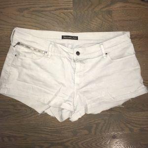 Abercrombie & Fitch Shorts - Abercrombie white denim shorts